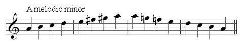 A melodic minor